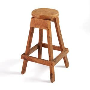 Antique Wood Stool