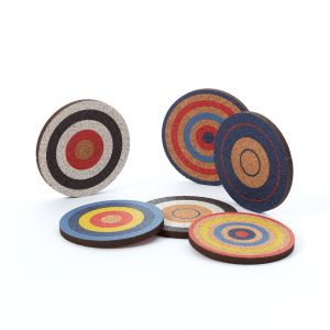 Cork Target Coaster No.3 Small