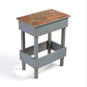 Distressed Antique Wood Grey Table