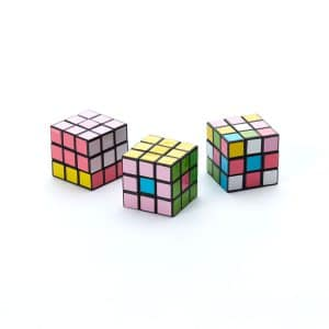 Mini Rubik's Cubes (Set of 3)