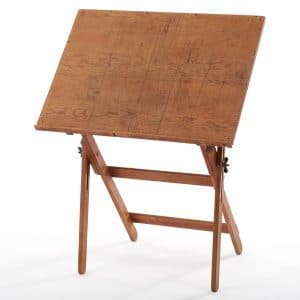 Wood Vintage Drafting Table 01
