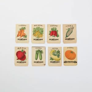 Old Vegetable Seed Packets