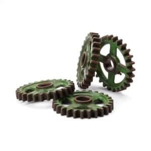 Industrial Green Metal Gears (Vintage) 4 available